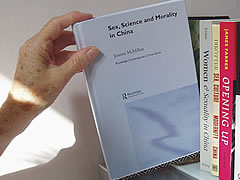 A photo of the 'Sex, Science and Morality in China' book